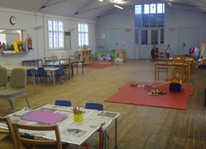 Inside Sutton on the Forest Preschool at the Grey Village Hall