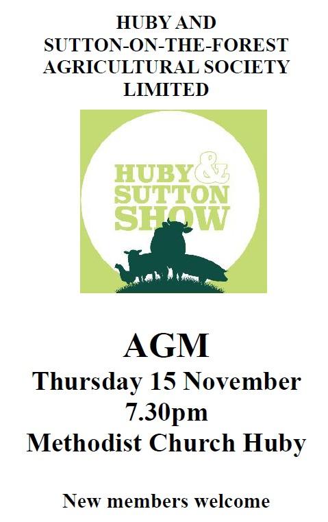 Huby & Sutton Show AGM