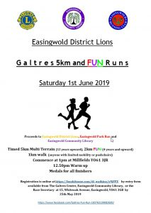 Galtres Fun Run poster