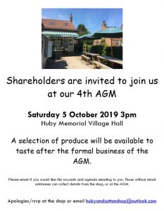 Barkers of Huby AGM poster