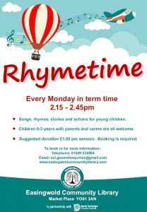 Easingwold Community Library Rhymetime Sessions